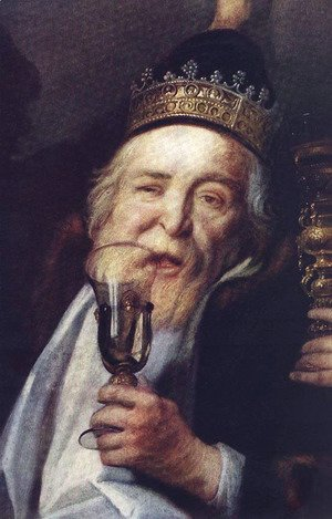 Jacob Jordaens - The Bean King [detail]