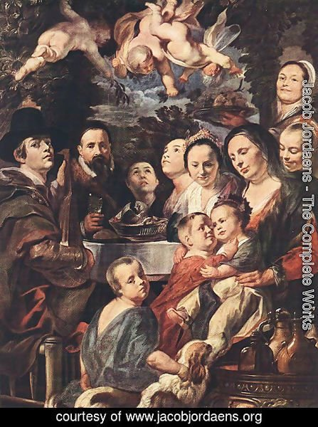 Jacob Jordaens - Self Portrait among Parents, Brothers and Sisters