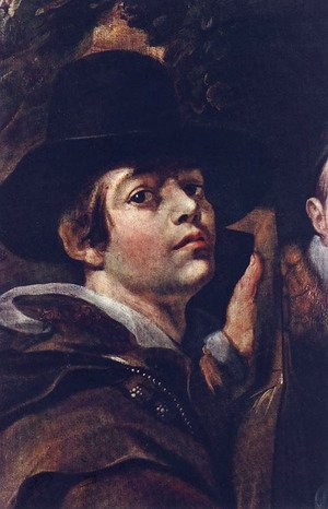 Jacob Jordaens - Self Portrait among Parents, Brothers and Sisters [detail]
