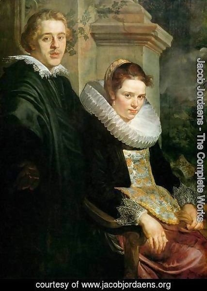 Jacob Jordaens - Portrait of a Young Married Couple