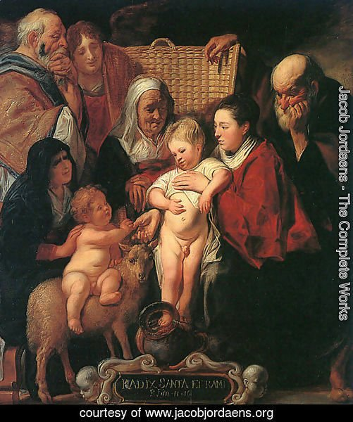 The Holy Family with St. Anne, The Young Baptist, and his Parents