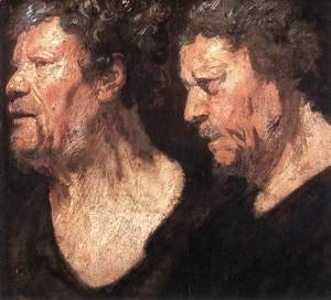 Jacob Jordaens - Studies of the Head of Abraham Grapheus
