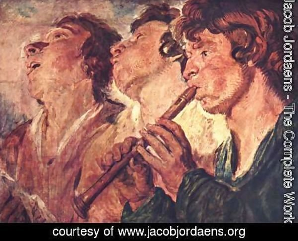 Jacob Jordaens - The Itinerant Musicians