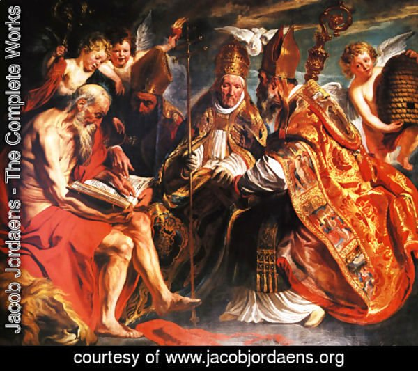 Jacob Jordaens - The Four Fathers Of The Latin Church