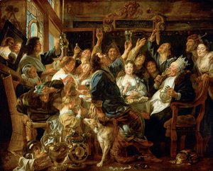 Jacob Jordaens - The Bean King I