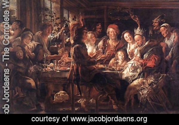 Jacob Jordaens - The Bean King II