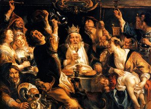 Jacob Jordaens - The King Drinks I