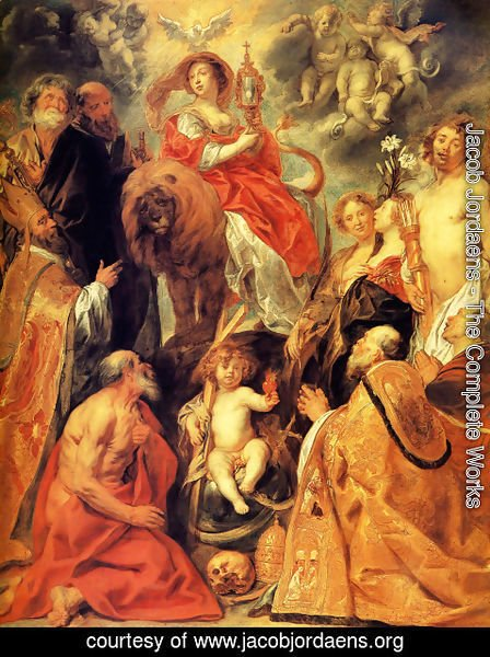 Jacob Jordaens - The Veneration of the Eucharist