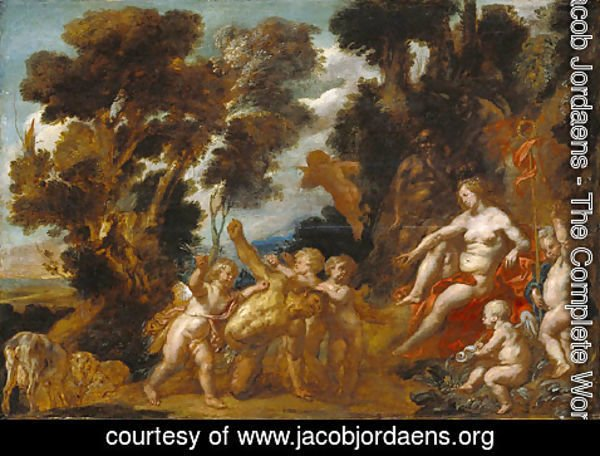 Jacob Jordaens - Venus and Eros