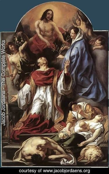 Jacob Jordaens - St Charles Cares for the Plague Victims of Milan