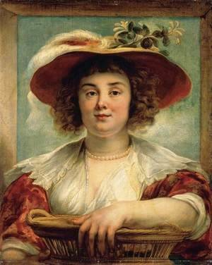 Jacob Jordaens - Portrait of the Artist's Daughter Elizabeth