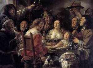 Jacob Jordaens - The King Drinks 2