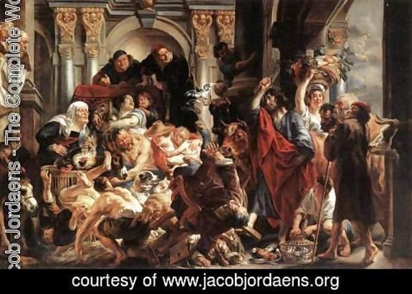 Jacob Jordaens - Christ Driving the Merchants from the Temple 2