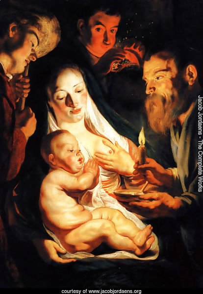 The Holy Family with Shepherds 1616