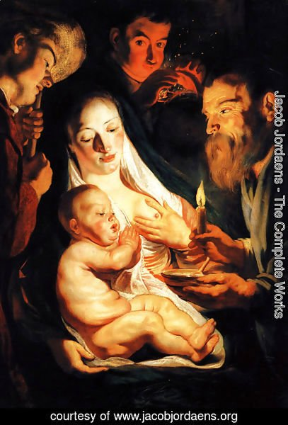 Jacob Jordaens - The Holy Family with Shepherds 1616