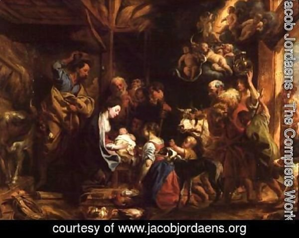 Jacob Jordaens - The Nativity