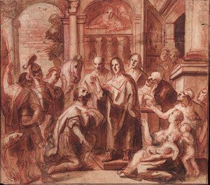 Jacob Jordaens - Christ and the Headman of Capernaum