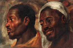 Jacob Jordaens - Head studies of two African men