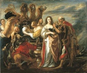 Jacob Jordaens - Rebecca at the Well