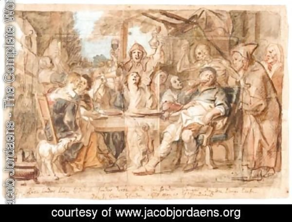 Jacob Jordaens - A Merry Company (An Allegory Of Integrity)