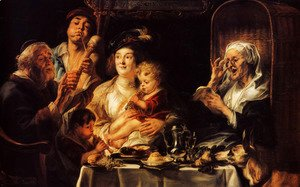 Jacob Jordaens - As The Old Sang The Young Play Pipes
