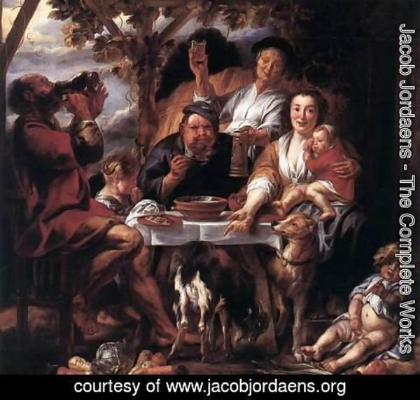 Jacob Jordaens - Eating Man
