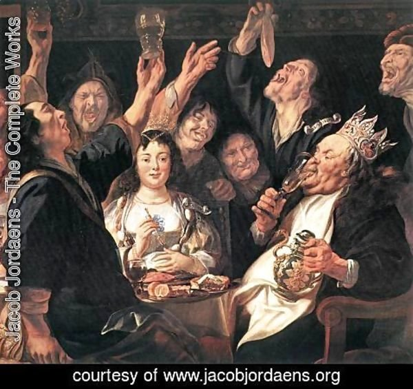 Jacob Jordaens - The Bean King (detail)
