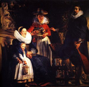 Jacob Jordaens - The Family Of The Artist
