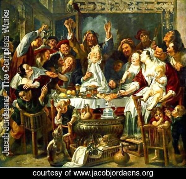 Jacob Jordaens - The King Drinks