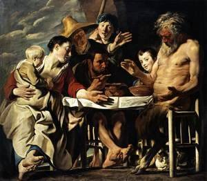 Jacob Jordaens - The Satyr And The Peasant