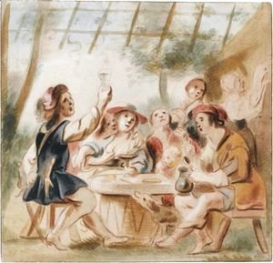 Merry Company Under An Arbour