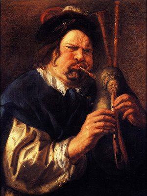 Self-Portrait As A Bagpipe Player