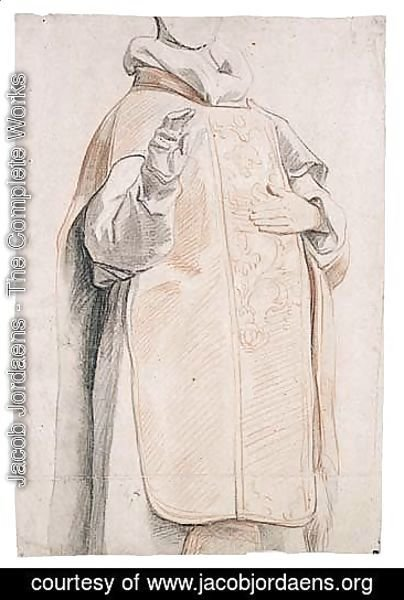 Study Of A Figure In Priest's Robes