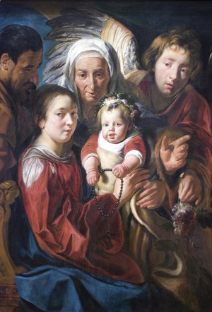Jacob Jordaens - The Holy Family
