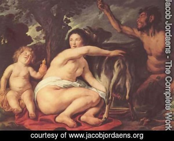 Jacob Jordaens - Youth of the Zeus (The goat Amalthea nourished Zeus)