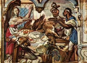 Jacob Jordaens - Kitchen scene