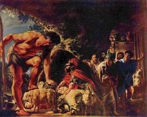 Jacob Jordaens - Odysseus in the Cave of Polyphemus