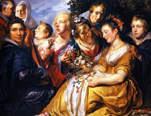 Jacob Jordaens - Self portrait with his Family and Father-in-Law Adam van Noort