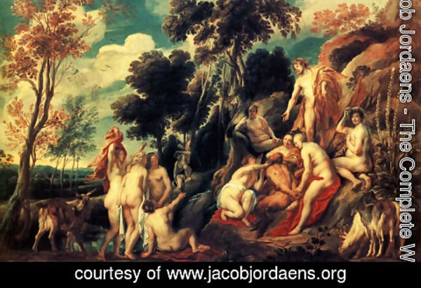 Jacob Jordaens - Pan punished by the Nymphs