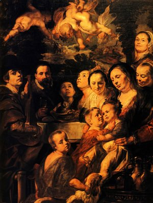 Jacob Jordaens - Portrait of Jordaens family
