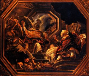Jacob Jordaens - The father of the Psyche consultants of Oracle in the Temple of Apollo
