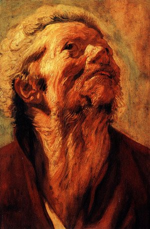 Jacob Jordaens - Study of the head of Abraham Grapheus