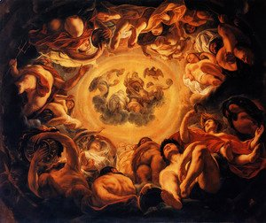 Jacob Jordaens - Psyche hosted on Olympus