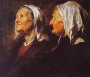 Jacob Jordaens - Head of an Old Woman