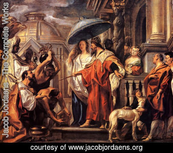 Jacob Jordaens - The tribute the Caliph Harun al-Rashid to Charlemagne