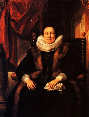 Jacob Jordaens - Portrait of a lady sitting in a chair