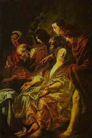 Jacob Jordaens - Holy Women at the Sepulchre