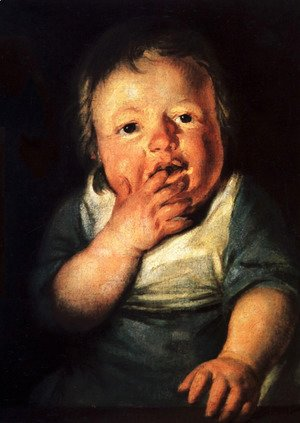 Jacob Jordaens - Study of little child