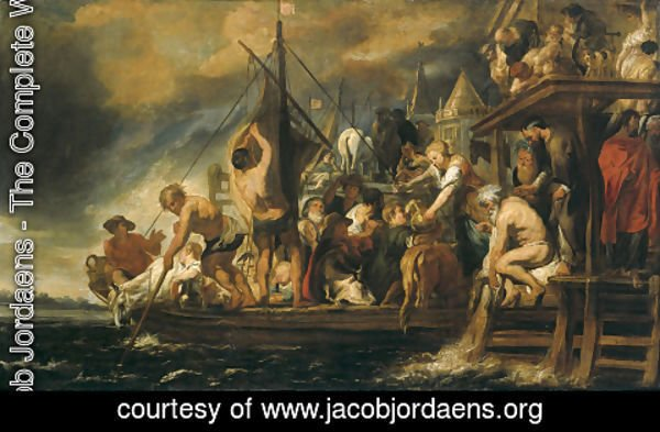 Jacob Jordaens - The Miracle of the Obol in the Mouth of the Fish