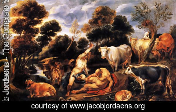 Jacob Jordaens - Mercure killing Argos